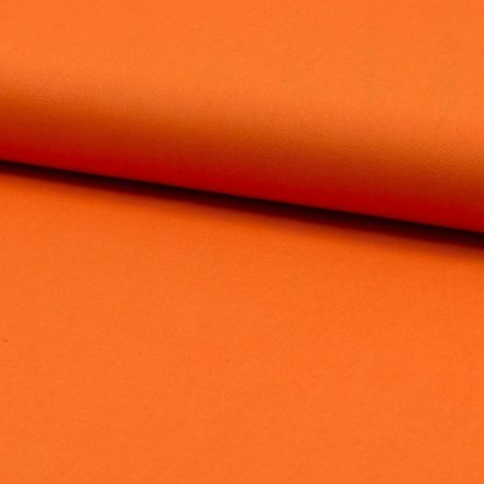 Tissu Popeline de coton unie Orange - Par 10 cm