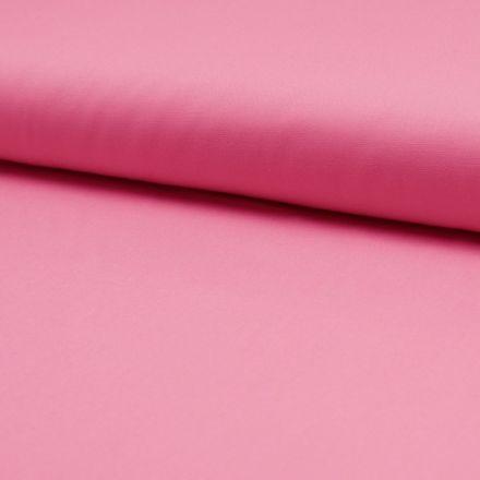 Tissu Popeline de coton unie Rose - Par 10 cm