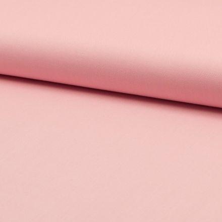 Tissu Popeline de coton unie Rose pâle - Par 10 cm