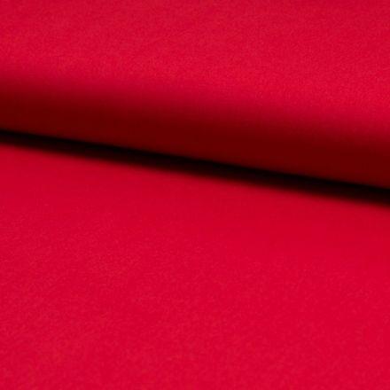 Tissu Popeline de coton unie Rouge - Par 10 cm