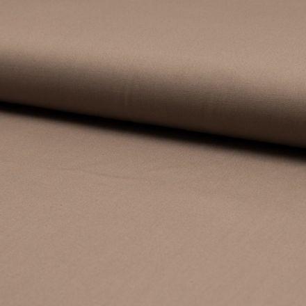 Tissu Popeline de coton unie Taupe - Par 10 cm