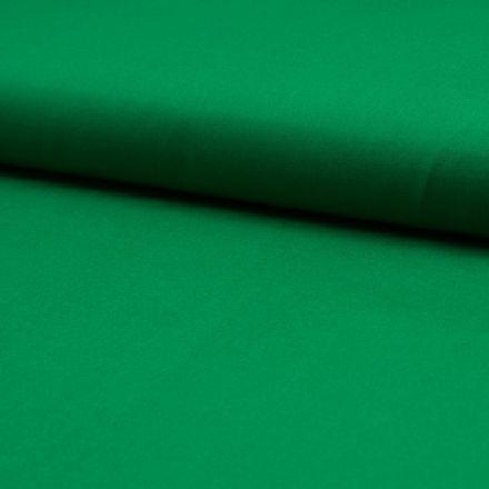 Tissu Popeline de coton unie Vert - Par 10 cm