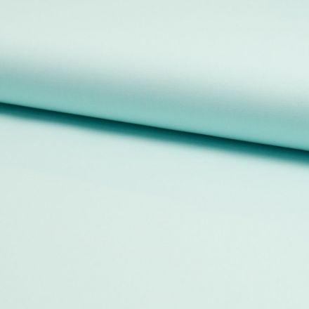 Tissu Popeline de coton unie Vert menthe - Par 10 cm