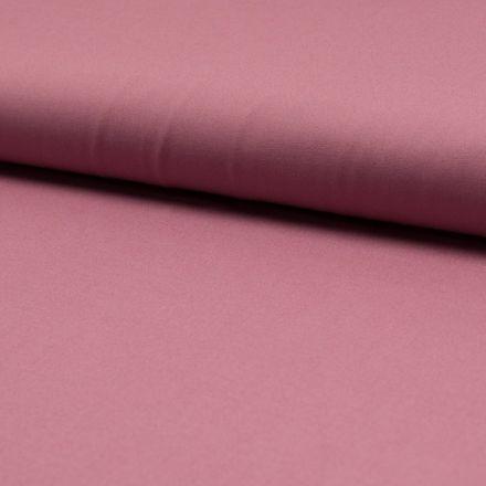 Tissu Popeline de coton unie Vieux rose - Par 10 cm