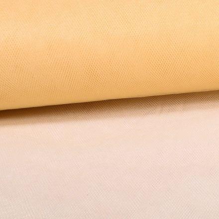 Tissu Tulle Souple Grande Largeur Beige Doré - Au mètre
