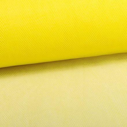 Tissu Tulle Souple Grande Largeur Jaune Fluo - Au mètre