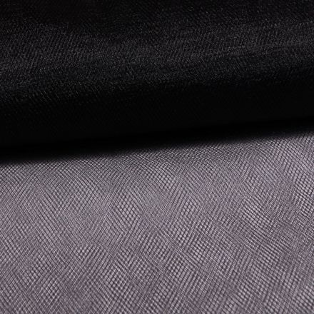 Tissu Tulle Souple Grande Largeur Noir - Au mètre