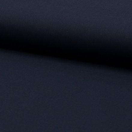 Tissu Voile de coton uni Bleu marine - Par 10 cm
