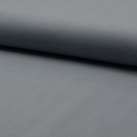 Tissu Voile de coton uni Gris souris - Par 10 cm