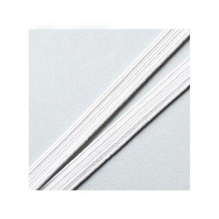 Elastique Plat Indémaillable 10 mm Blanc x1m