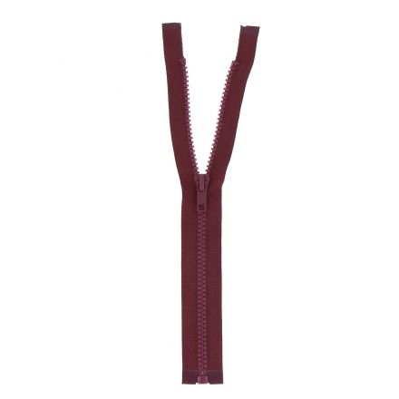 Fermeture injectée n°5 séparable Prune - 12 tailles