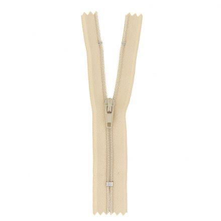 Fermeture nylon non séparable Beige - 12 tailles