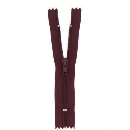 Fermeture nylon non séparable Bordeaux - 12 tailles