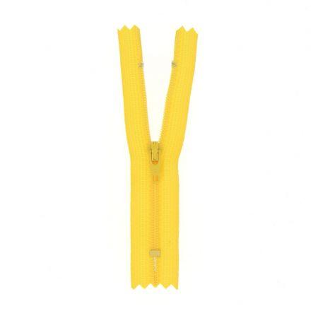 Fermeture nylon non séparable Jaune - 12 tailles