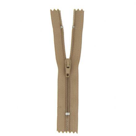 Fermeture nylon non séparable Marron - 12 tailles