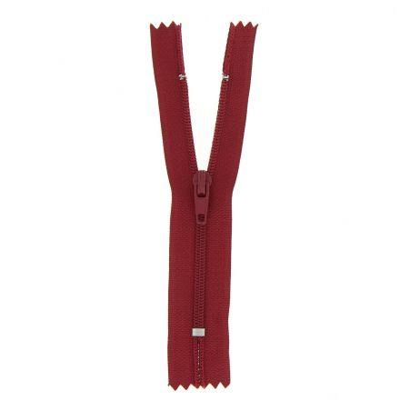 Fermeture nylon non séparable Rouge foncé - 12 tailles