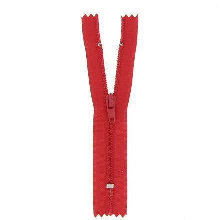 Fermeture nylon non séparable Rouge - 12 tailles