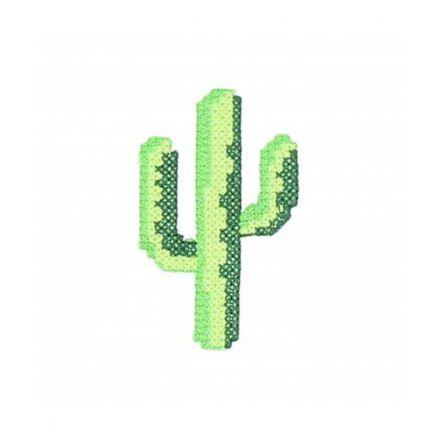 Ecusson Thermocollant cactus au point de croix Vert