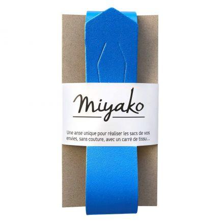 Anse de sac en cuir Miyako Bleu roi