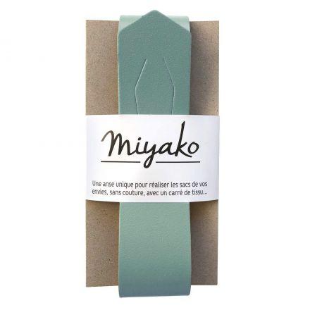 Anse de sac en cuir Miyako Menthe