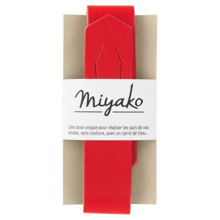 Anse de sac en cuir Miyako Rouge