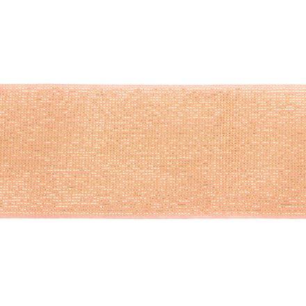 Élastique Plat Lurex Rose doré 40 mm x1m