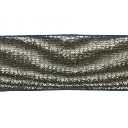 Élastique Plat Lurex Jean doré 40 mm x1m