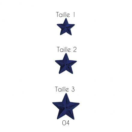 Ecusson Thermocollant Etoile Bleu et Marine - 3 Tailles