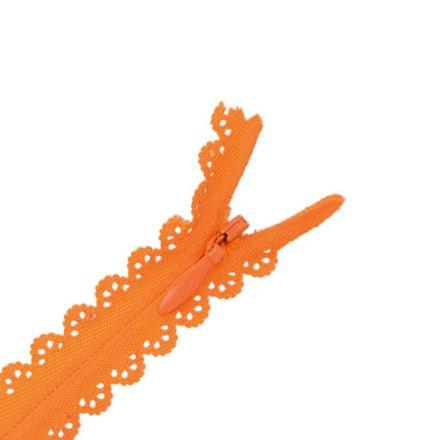Fermeture invisible Zoé dentelle Orange - 2 tailles