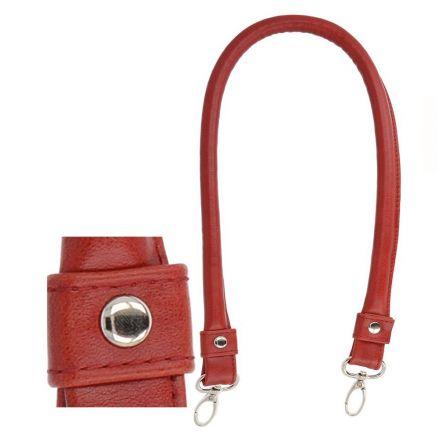 Anses de sac Rouges avec mousquetons métaliques 60 cm