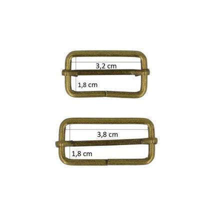 Boucles rectangulaires Cuivrées X2 - 2 tailles