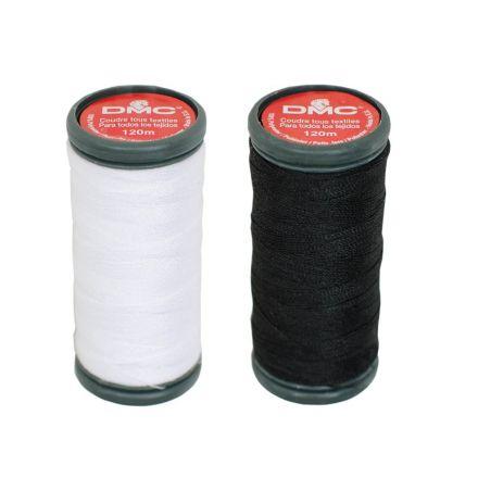 Fil DMC Pour tout coudre 100% Polyester 120m - Blanc ou Noir