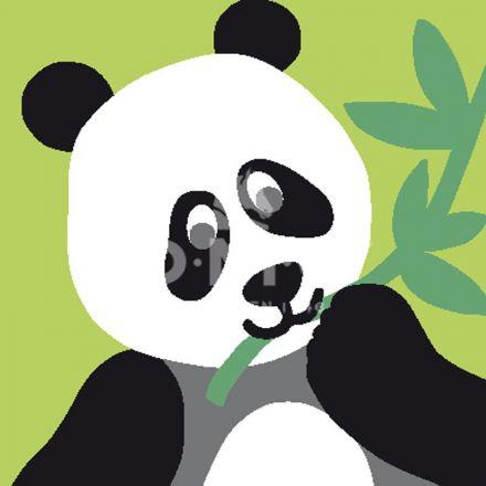 Kit Canevas enfants DMC Le Panda 15 x 15 cm