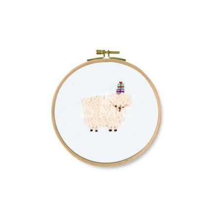 Kit Broderie DMC Un cadeau pour toi, Mouton 12 cm