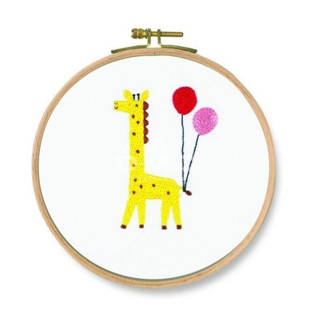 Kit Broderie DMC Coucou Girafe 18,5 cm