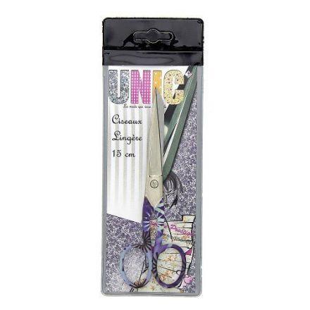 Ciseaux de couture Filea Lingère 15 cm Violet à Fleurs blanches