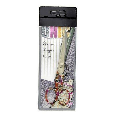 Ciseaux de couture Filea Lingère 15 cm Fleurs Orange et Fushia