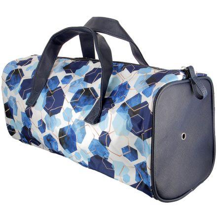 Sac à ouvrage Care & Create style Barrel Bag desgin - Bleu et or