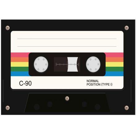 Sticker textile thermo-adhésif  7x7 cm - Cassette walkman
