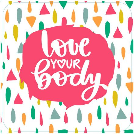 Sticker textile thermo-adhésif  7x7 cm - Love your body