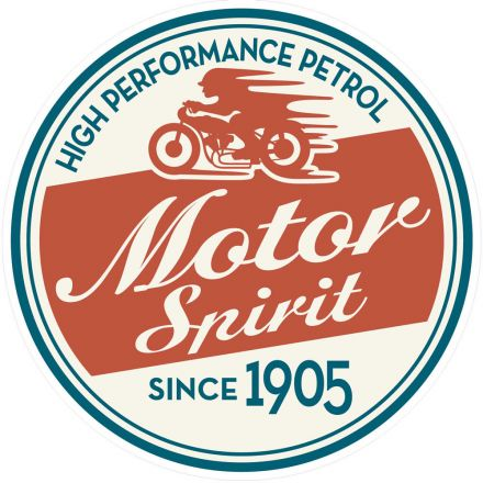 Sticker textile thermo-adhésif  7x7 cm - Motor spirit