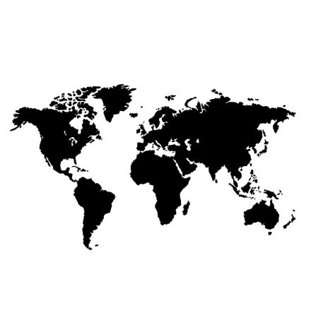 Sticker textile thermo-adhésif  9x15 cm - Carte du monde
