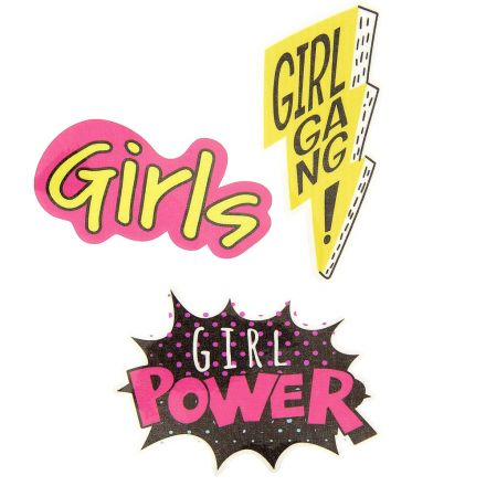 Sticker textile thermo-adhésif  9x15 cm - Girls