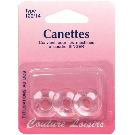 Canettes Singer plastique type 66 x3