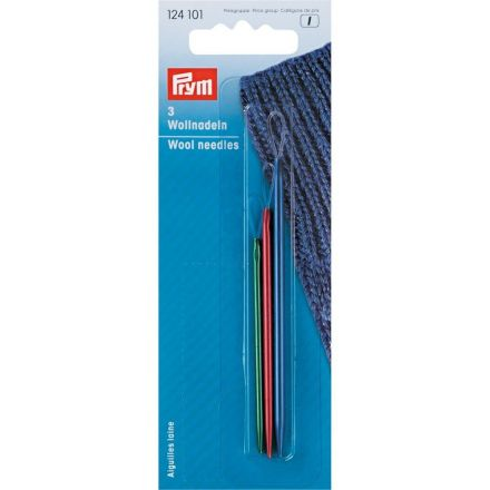 Aiguilles pour laine Prym aluminium avec boucle en nylon