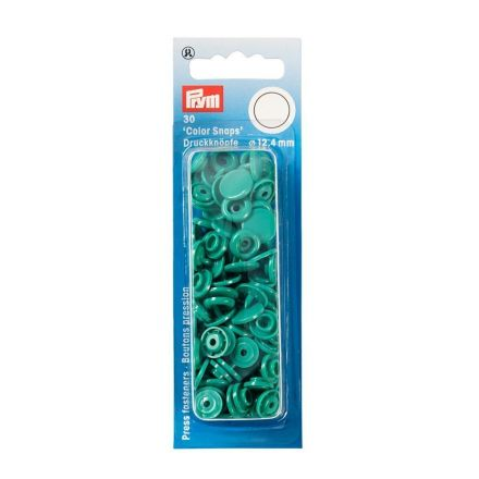 Prym 30 Boutons pression Color Snaps vert 12,4 mm