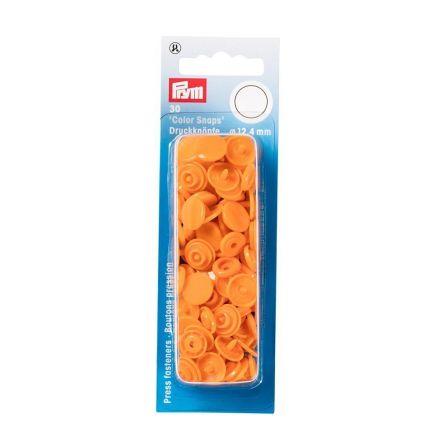 Prym 30 Boutons pression Color Snaps orange 12,4 mm