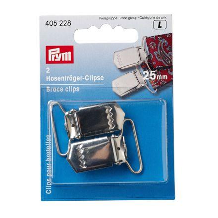 Clips pour bretelles Prym argentés 18 mm