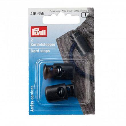 Arrêts cordons avec 1 trou en plastique Prym Noir