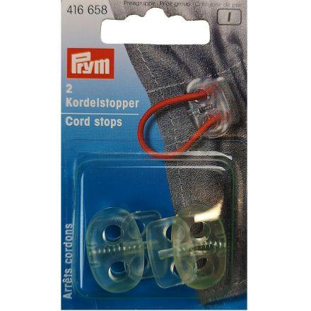 Arrêts de cordons en plastique à deux trous Prym Transparent